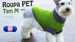getlinkyoutube.com-Roupa PET de Crochê | Tamanho M | Professora Simone Parte 1