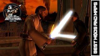 getlinkyoutube.com-Star Wars Battlefront II (PC) HD: Best Mods & Maps: Battlefront +123 - Mustafar   Anakin vs Obi-Wan