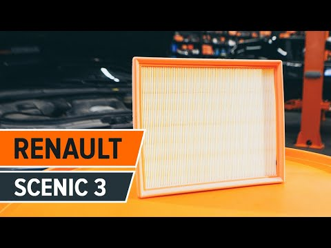 How to replace air filter on RENAULT SCENIC 3 TUTORIAL | AUTODOC