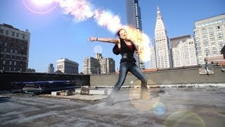 getlinkyoutube.com-Epic Wizard Girl Fight- Firebending, Earthbending, Dragon Ball Z