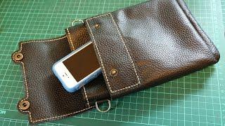 getlinkyoutube.com-Making a Leather Sling Bag