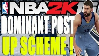 getlinkyoutube.com-Dominant Post Up Scheme! Easy Points! - NBA 2K16 Tips and Tricks