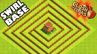 """getlinkyoutube.com-Clash of Clans - THE SWIRL BASE! """"TOWN HALL 8 TROLLING BASE!"""" This is the Most Terrible Base Ever"""