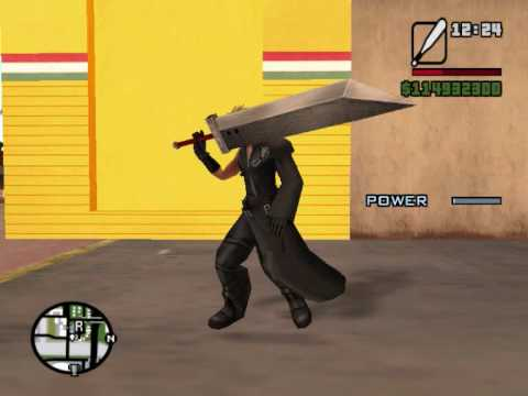 [GTA:SA] Final Fantasy 7 - Dancing Cloud Strife