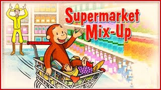 getlinkyoutube.com-♡ Curious George / Jorge el Curioso - Supermarket Mix-up Funny Pattern Video Game For Kids English