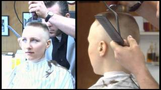 getlinkyoutube.com-preview clip of Calley's Barbershop Flat Top and Head Shave