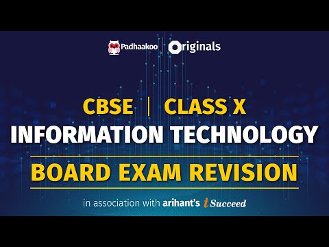 CBSE Exams 2020   Information Technology Revision   Class 10