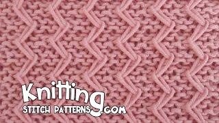 getlinkyoutube.com-Zig Zag Fixed Loop in Garter Stitch