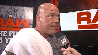 Kurt Angle to address the Brock Lesnar situation at the start of Raw: July 16, 2018