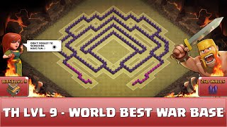 getlinkyoutube.com-☆ Clash of Clans Fun Wall Art ☆ TH9 - World Best War Base 1