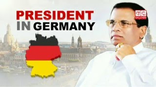 President Sirisena meets German Chancellor
