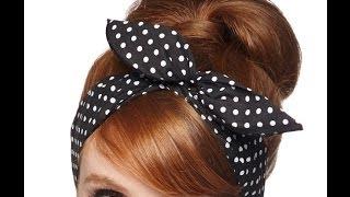 getlinkyoutube.com-Como Fazer uma Bandana Pin Up ou Headband