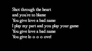 getlinkyoutube.com-Bon Jovi - You give love a bad name - lyrics