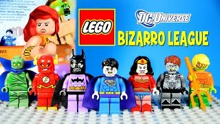 getlinkyoutube.com-LEGO BIZARRO LEAGUE DC Comics Super Heroes MOC with Bizarro Batzarro & Bizarra Custom