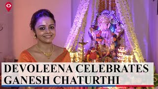 Devoleena Bhattacharjee celebrates Ganesh Chaturthi with Mumbai Live  | Entertainment|