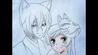 getlinkyoutube.com-How to draw Tomoe and Nanami (Valentines special) Kamisama Kiss