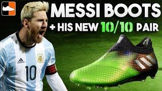 getlinkyoutube.com-Every Messi adidas boot & his new 10/10 Kryptonite pair!