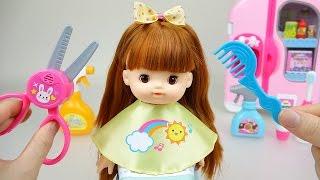 getlinkyoutube.com-Baby Doll hair cut toys 콩순이 와 똘똘이 미용실 장난감 놀이
