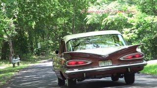 getlinkyoutube.com-1959 Chevrolet Biscayne classic car retro test drive with Samspace81