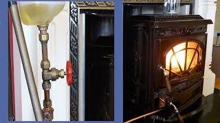 Homemade Waste Oil Burner .. Converted Stove walkthrough
