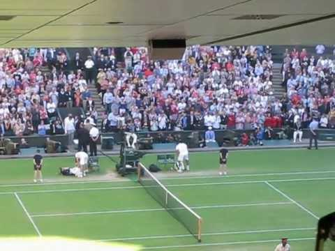 Andy Murray match point semi-final Wimbledon 2012 crowd reaction