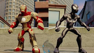 getlinkyoutube.com-Disney Infinity 2.0 - Spider-Man Vs Iron Man (Vs. Mode: Waterfront) - Level 20 Characters