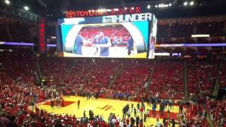 Houston Rockets 2017 Playoff Intro Video and Player Introductions