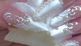 getlinkyoutube.com-WEDDING EDGE NAILS  ACRYLIC & GEL  ( Bornpretty.com)