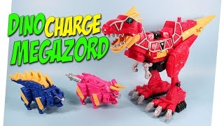 Power Rangers Dino Charge Megazord T-Rex Stego & Tricera