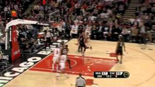 Derrick Rose somehow sinks the circus shot