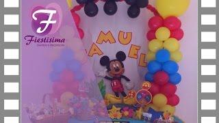 getlinkyoutube.com-Decoracion infantil Mickey Mouse 3