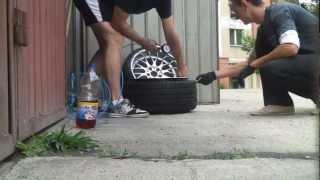 getlinkyoutube.com-tyre stretch 225/35/18 on 10J