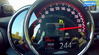 getlinkyoutube.com-2016 MINI F56 JCW (231hp) - 0-244 km/h acceleration (60FPS)