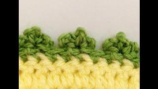 getlinkyoutube.com-غرزة البيكو العادي والثلاثي  Crochet Picot Stitch