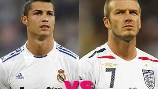 getlinkyoutube.com-Cristiano Ronaldo vs David Beckham ● top 10 free kick goals