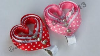 getlinkyoutube.com-HOW TO: Make a Layered Valentine's Day Heart Clip Tutorial by Just Add A Bow