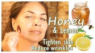 getlinkyoutube.com-How to Reduce Wrinkles and Tighten Skin - DIY Honey and Lemon Mask Home Remedy