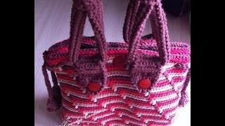 getlinkyoutube.com-Bolsa em Crochê. Barroco Max Color
