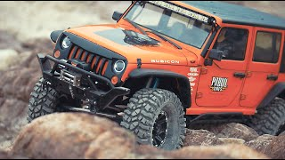 getlinkyoutube.com-Axial SCX10 Jeep(Rampage Recovery Bumper)Rock Crawling_#12