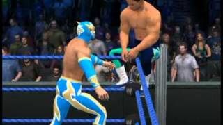 getlinkyoutube.com-WWE SmackDown vs. RAW 2011 sin cara finisher