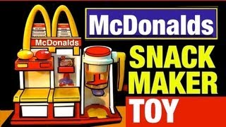 getlinkyoutube.com-McDonalds Toys Hamburger Maker Playset Vintage McDonald's Snack Food Maker Toy Review by Mike Mozart