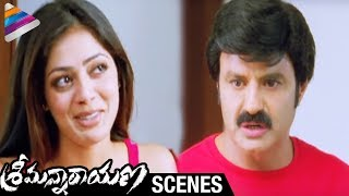 getlinkyoutube.com-Srimannarayana Movie Scenes | Balakrishna trying to hide Parvathi Melton from Isha Chawla