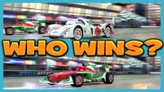 getlinkyoutube.com-Cars 2 The Game Francesco Bernoulli vs Shu Todoroki attack on Ginza Sprint By Disney Cars Toy Club