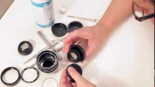 getlinkyoutube.com-How to clean aperture oil, fungus Minolta 58mm 1.4 PF 1/2