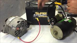 charging system wire up using GM 3 wire internally regulated alternator
