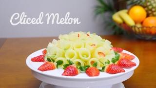 getlinkyoutube.com-SLICED MELON ⟨ ICRIVELY EASY TO DO A FRUIT CENTER ⟩ By JPereira Art Carving