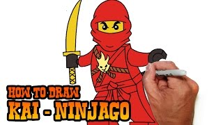 getlinkyoutube.com-How to Draw Kai- Ninjago- Video Lesson
