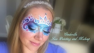 Cinderella Face Paint Using Kryvaline Fairy Dust Cake