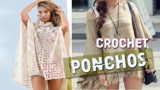 getlinkyoutube.com-Ponchos Tejidos a Crochet Diseños