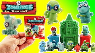 getlinkyoutube.com-★Zomlings Blind Bags and Haunted House★ Zomlings Mini Figure Blind Bag Opening Zombies Toys Video